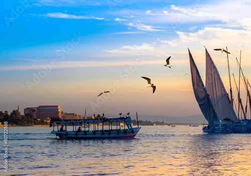 Leinwandbild Motiv Egyptian voyage on the Nile.
