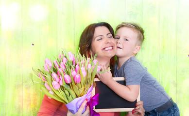 Frühling Muttertag Kind
