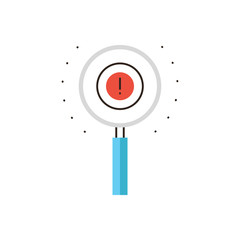 Find solution flat line icon concept