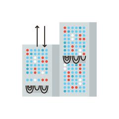 Data server flat line icon concept