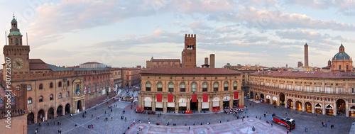 Foto op Aluminium Artistiek mon. view of piazza maggiore - bologna