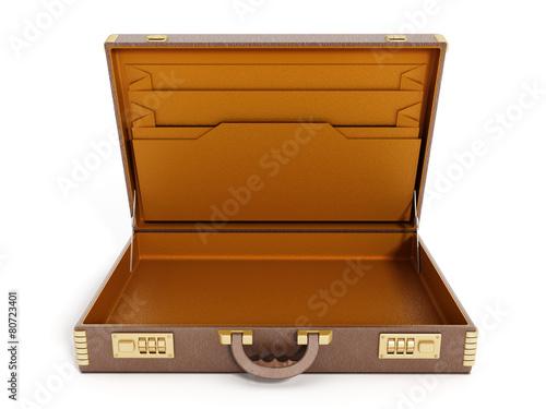 Open vintage briefcase - 80723401