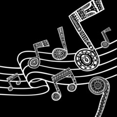Music black and white background