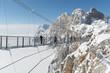 Leinwandbild Motiv Haengebruecke am Dachsteingebirge