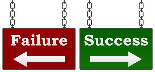 Success Failure Signboards