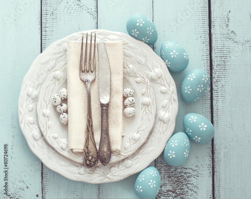 Easter table setting - 80724698