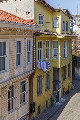 Old houses in a street in Istanbul