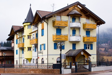 Typical alpine police barracks, Italy