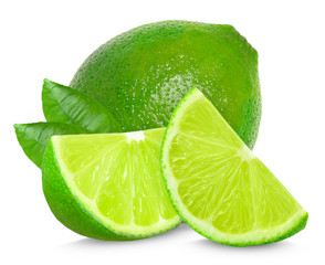 lime and leaf isolated