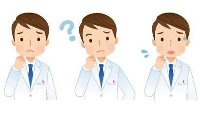 男性医師 医療 表情 セット