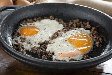 Braised Beef with Egg Close-up
