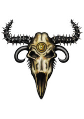 Fantasy animal skull