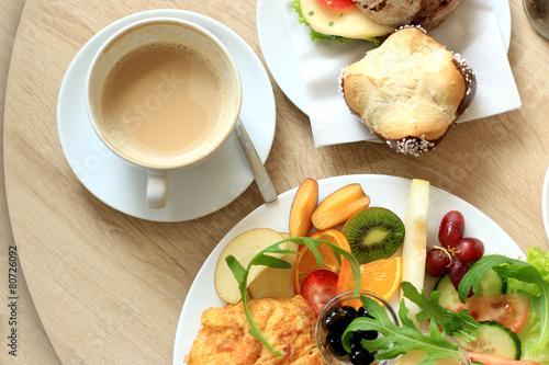 Leinwandbild Motiv Frühstückshaus I