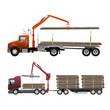 Obrazy na płótnie, fototapety, zdjęcia, fotoobrazy drukowane : Timber truck