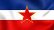 Leinwanddruck Bild - Flag of Yugoslavia