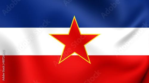 Leinwanddruck Bild Flag of Yugoslavia