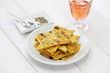 socca, farinata, chickpea pancake with rose wine - 80727067