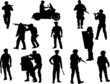 The set 0f 12 vector policeman silhouette - 80727094