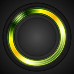 Bright glowing circle vector logo