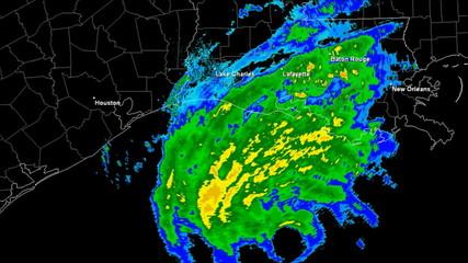 Hurricane Rita (2005) Landfall Time Lapse