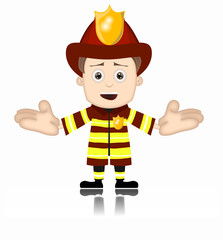 Ben Boy Fireman firefighter friendly fire man