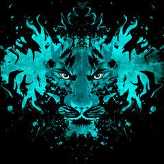 абстрактный фон с пантерой