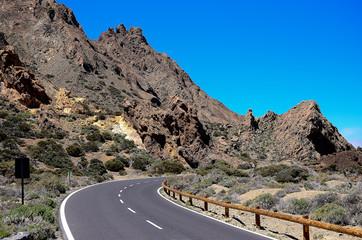 Highway on the island of Tenerife