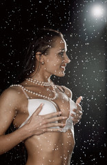 sexy woman water studio
