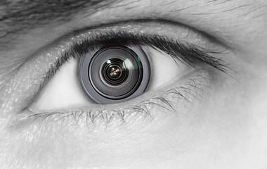 Camera lens inside the human eye