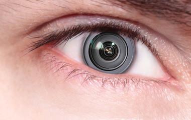 Camera lens inside the eye