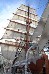 日本丸の総帆展帆