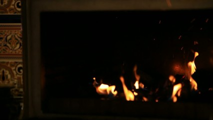 Chef is making flambe and fire. HD. 1920x1080