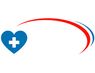 veterinarian background with heart and cross