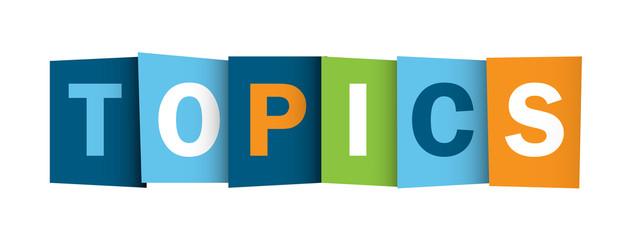 TOPICS icon (subject information documents menu)