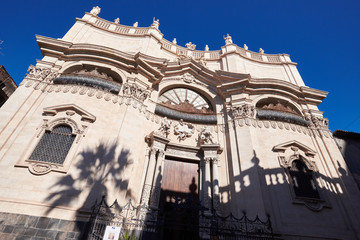 Religious Architecture in Catania, Sicily, Italy.