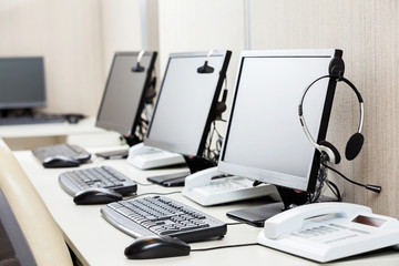 Computers With Headphones On Desk