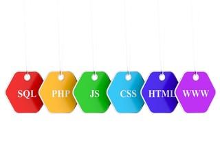 Webdesign Internet Concept - important symbols