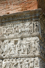 Thessaloniki. Fragment of bas-relief of arch of Gallerius