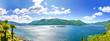 Leinwanddruck Bild - Lago Maggiore Panorama Blick auf die Brissago Inseln