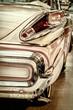 Retro styled rear of a classic American car