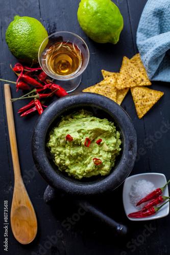 Deurstickers Klaar gerecht Mexican food