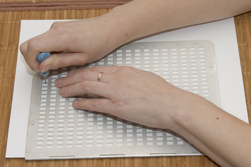 Writing text in Braille