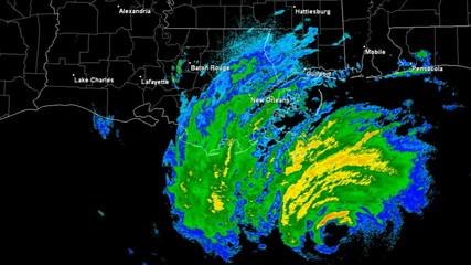 Hurricane Gustav (2008) Landfall Time Lapse