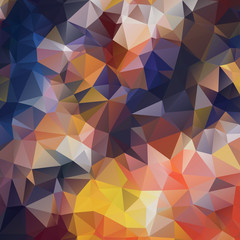 Blue and yellow low polygon mosaic background