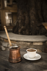 Turkish coffee serve