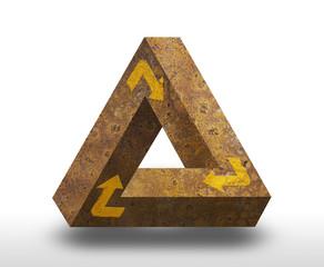 Tribar unendliches Dreieck verrostet