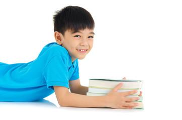 Lovely asian school kid