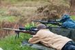 Leinwanddruck Bild - rifle target shooting