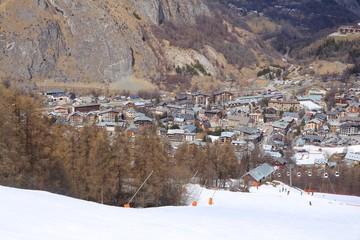 Valloire - ski resort in French Alps