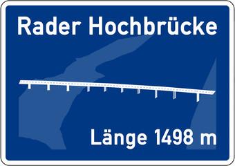 as1 AutobahnSchild - Tafel - Rader Hochbrücke - g3476